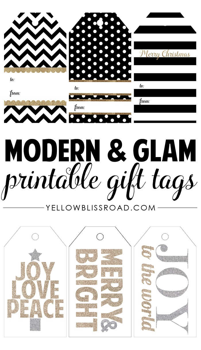 Free Printable Rustic And Plaid Gift Tags - Yellow Bliss Road - Free Printable To From Gift Tags