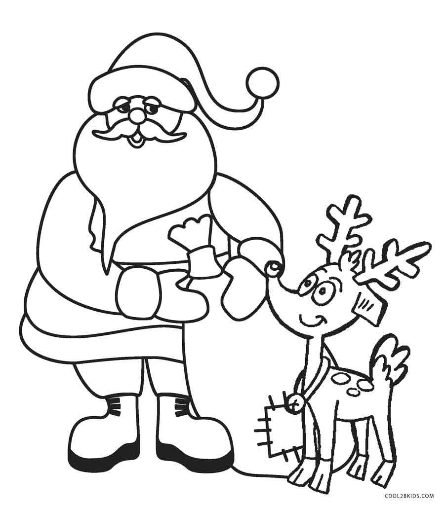 Christmas Coloring Pages Printable Santa Claus | Christmas ...