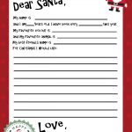 Free Printable Santa Letter Template | Holiday Christmas | Santa   Free Printable Christmas Letters From Santa