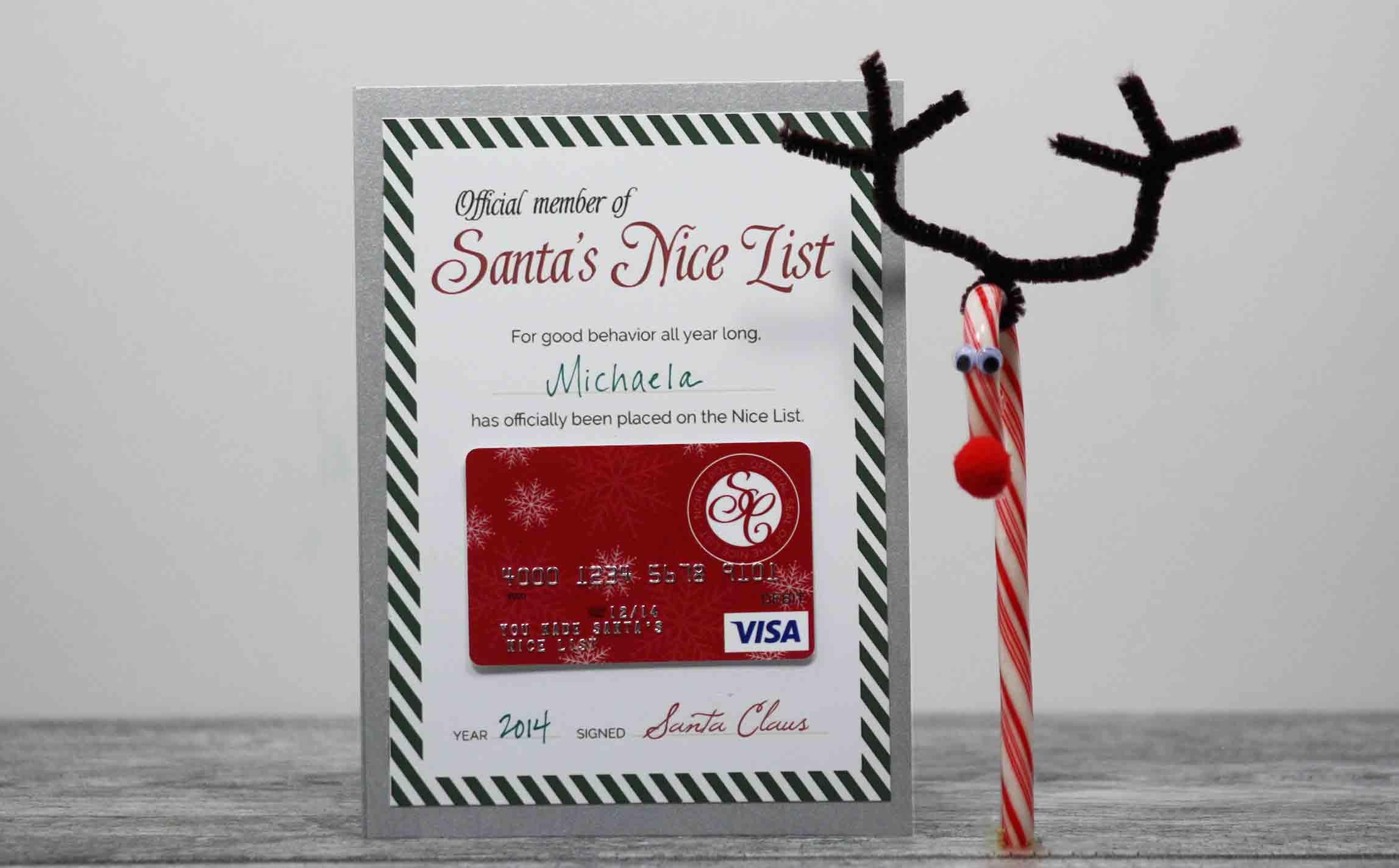 Free Printable} Santa's Nice List Certificate | Gcg - Free Printable Xmas Gift Certificates