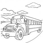 Free Printable School Bus Coloring Pages For Kids   Free Printable School Bus Template