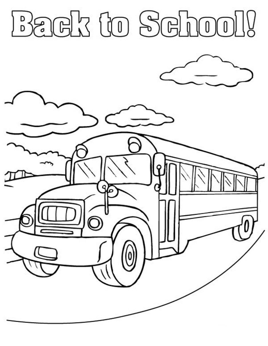Free Printable School Bus Coloring Pages For Kids - Free Printable School Bus Template