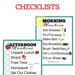 Free Printable School Routine Checklists | Printables | School   Free Printable Morning Routine Chart
