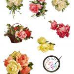 Free Printable Scrapbook Cutouts | Free Printable Of Victorian Roses   Scrapbooking Die Cuts Free Printable
