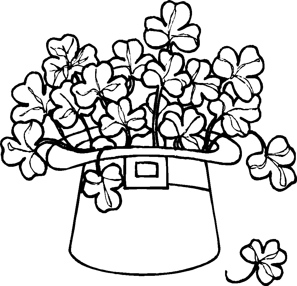 Free Printable Shamrock Coloring Pages For Kids - Free Printable Saint Patrick Coloring Pages