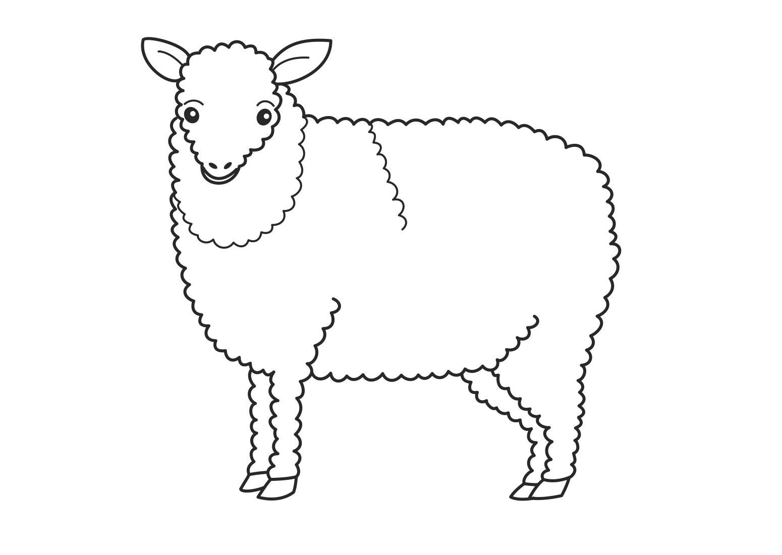 Free Printable Sheep Coloring Pages For Kids - Free Printable Pictures Of Sheep