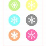 Free Printable Snowflake T Tags   Christmas Day Free Png Images   Free Printable Snowflakes