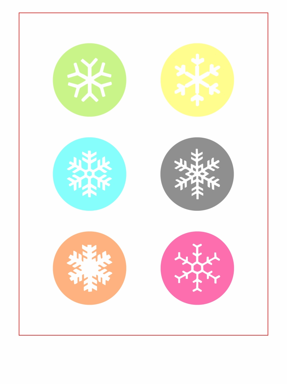 Free Printable Snowflake T Tags - Christmas Day Free Png Images - Free Printable Snowflakes