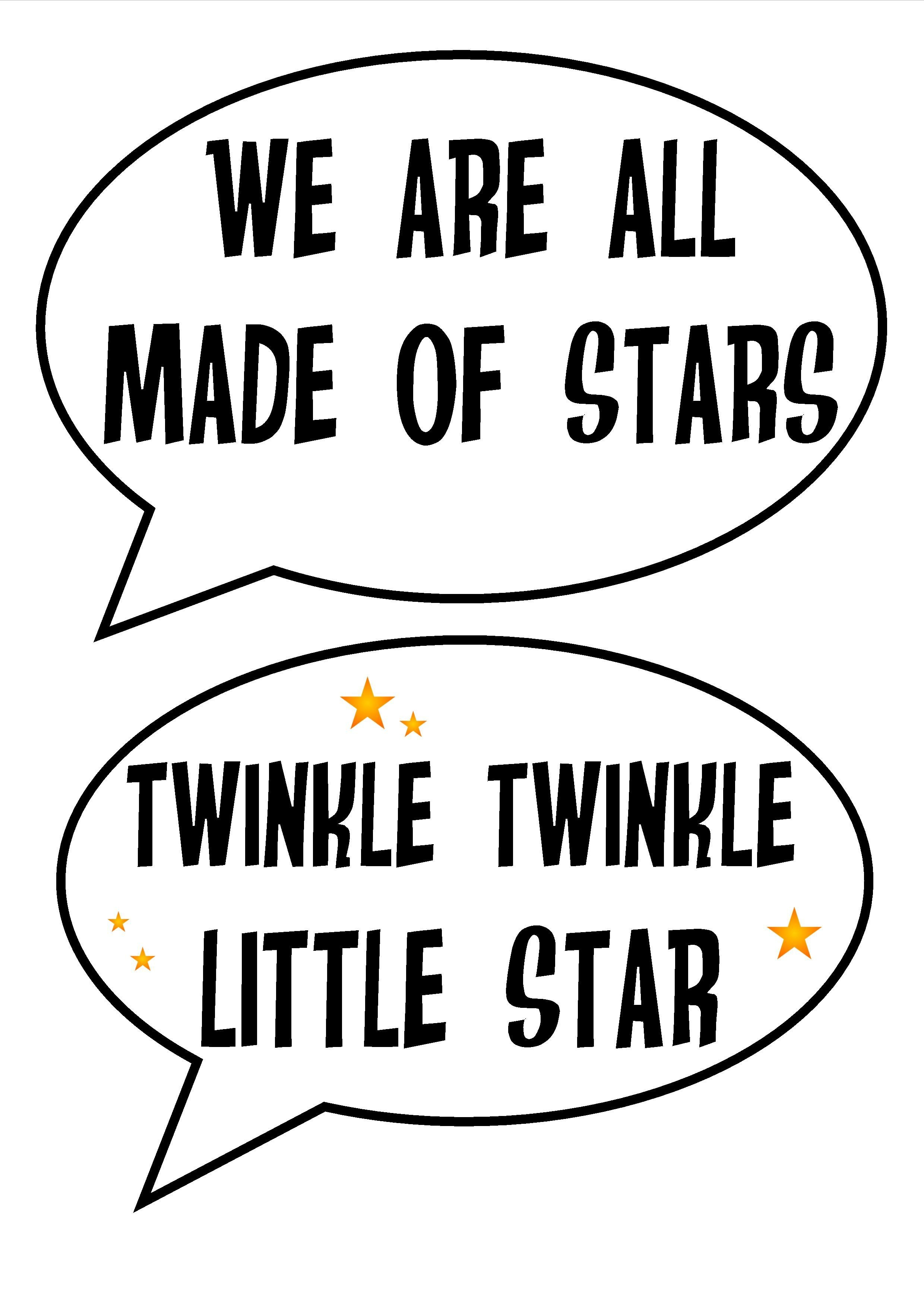 Free Printable Space Party Photobooth Astronomy Stars Planetarium - Free Printable 70's Photo Booth Props