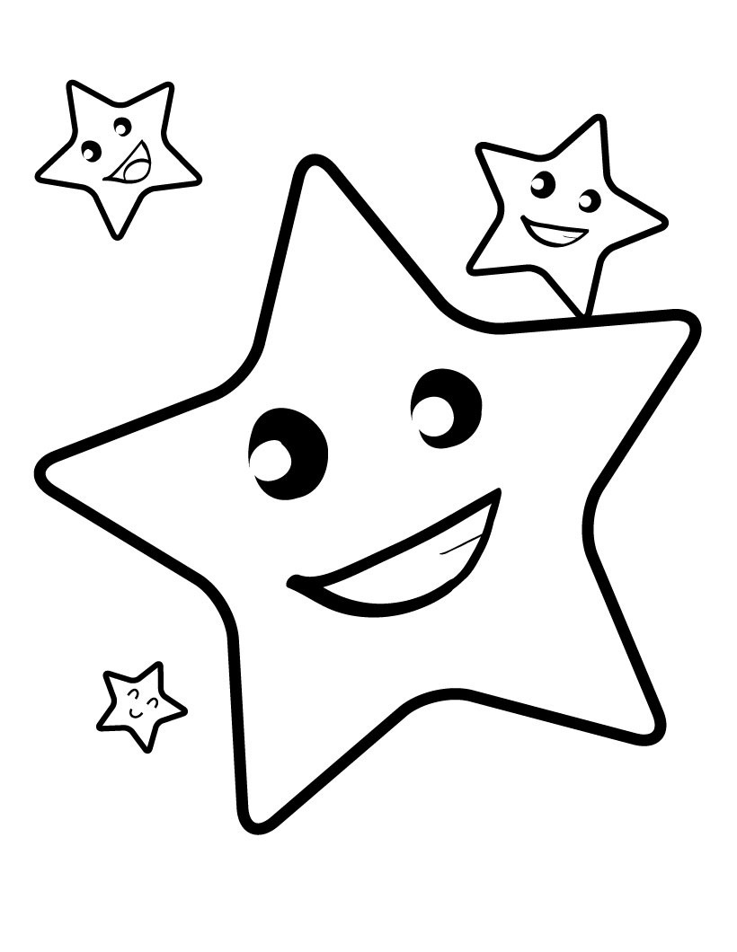 Free Printable Star Coloring Pages For Kids - Free Printable Coloring Pages For Preschoolers