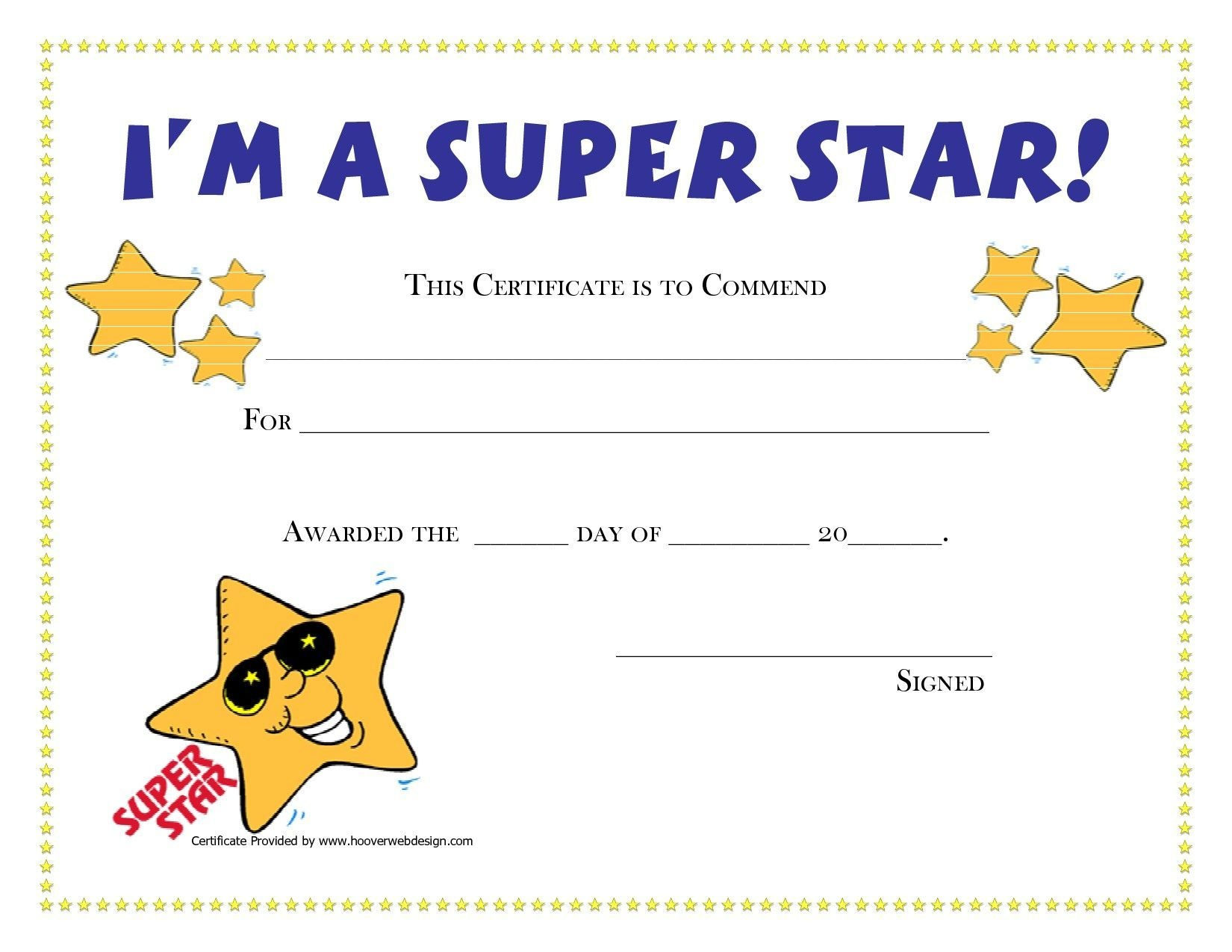 Free Printable Student Award  | Gh | Blank Certificate, Preschool - Free Printable Children's Certificates Templates