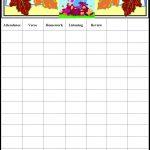 Free Printable Sunday School Attendance Chart Visit The Immanuel   Sunday School Attendance Chart Free Printable