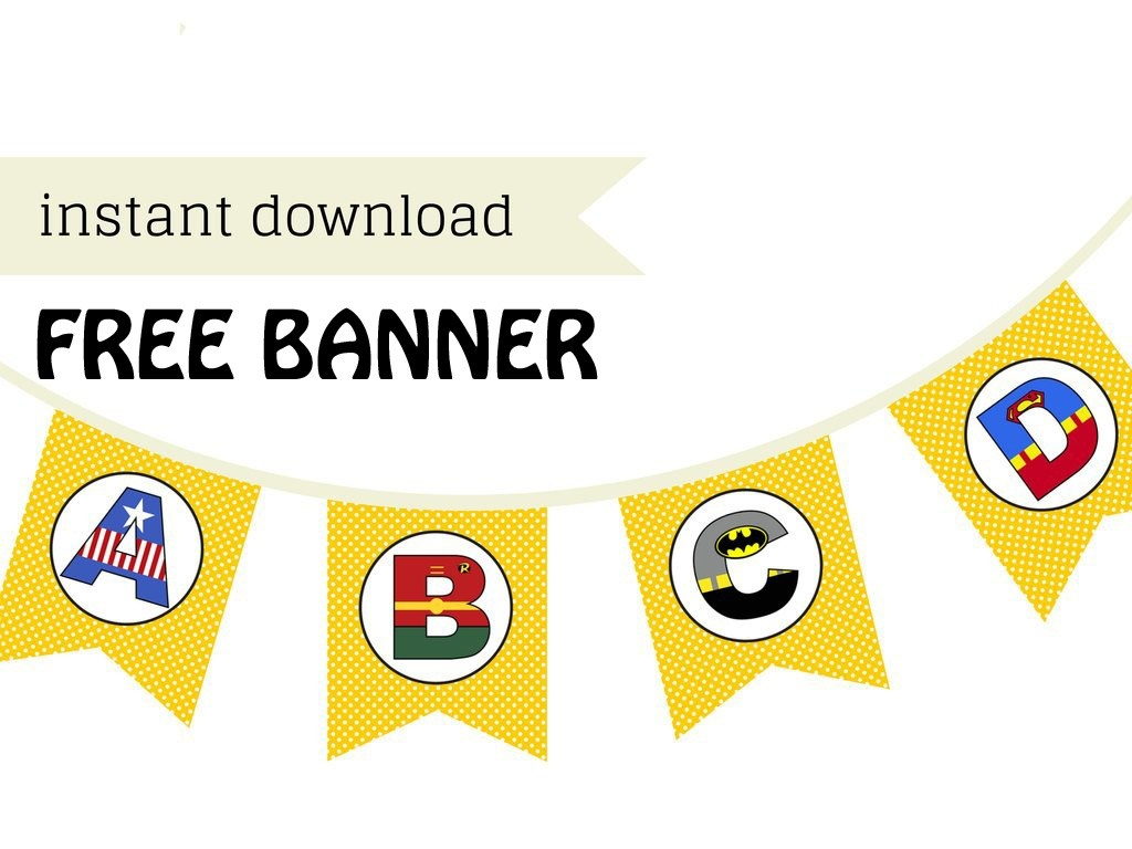 Free Printable Superhero Banner - Magical Printable - Free Printable Superhero Pictures