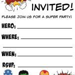 Free Printable Superhero Birthday Invitations | Birthdays   Free Printable Superman Invitations