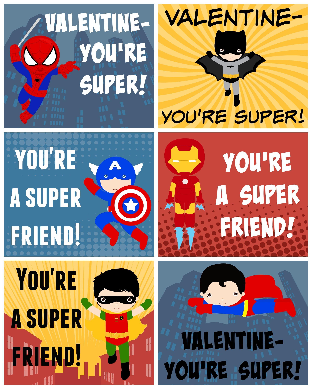 Free Printable Superhero Valentines | Bloggers' Best Diy Ideas - Free Printable Superhero Pictures