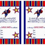 Free Printable Superman Birthday Invitations   Free Printable Superman Invitations