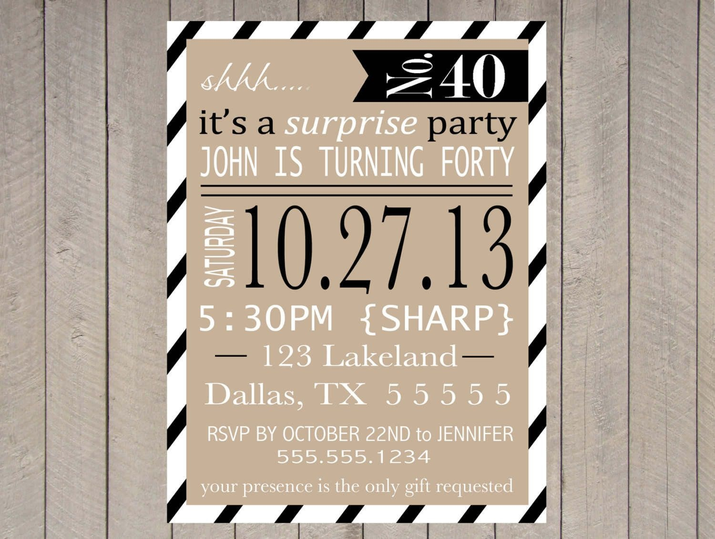 Free Printable Surprise Party Invitation Templates | Invitations In - Free Printable Surprise Party Invitation Templates