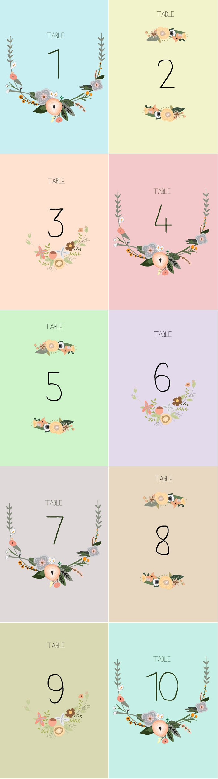 Free Printable Table Numbers 1 30 (84+ Images In Collection) Page 1 - Free Printable Table Numbers 1 30