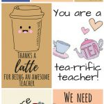 Free Printable Teacher Appreciation Thank You Cards | ✽ Back To   Free Printable Name Tags For Teachers