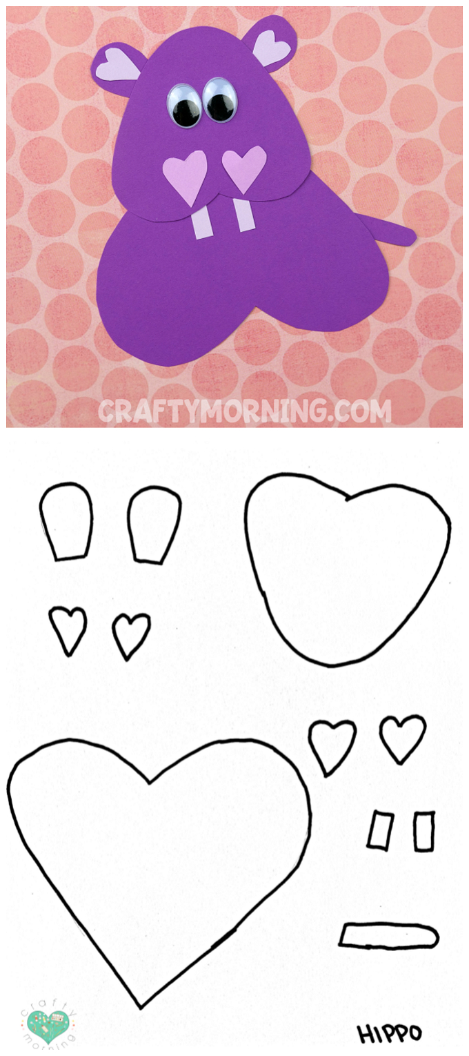 Free Printable Templates Of Heart Shape Animals - Crafty Morning - Free Printable Heart Templates