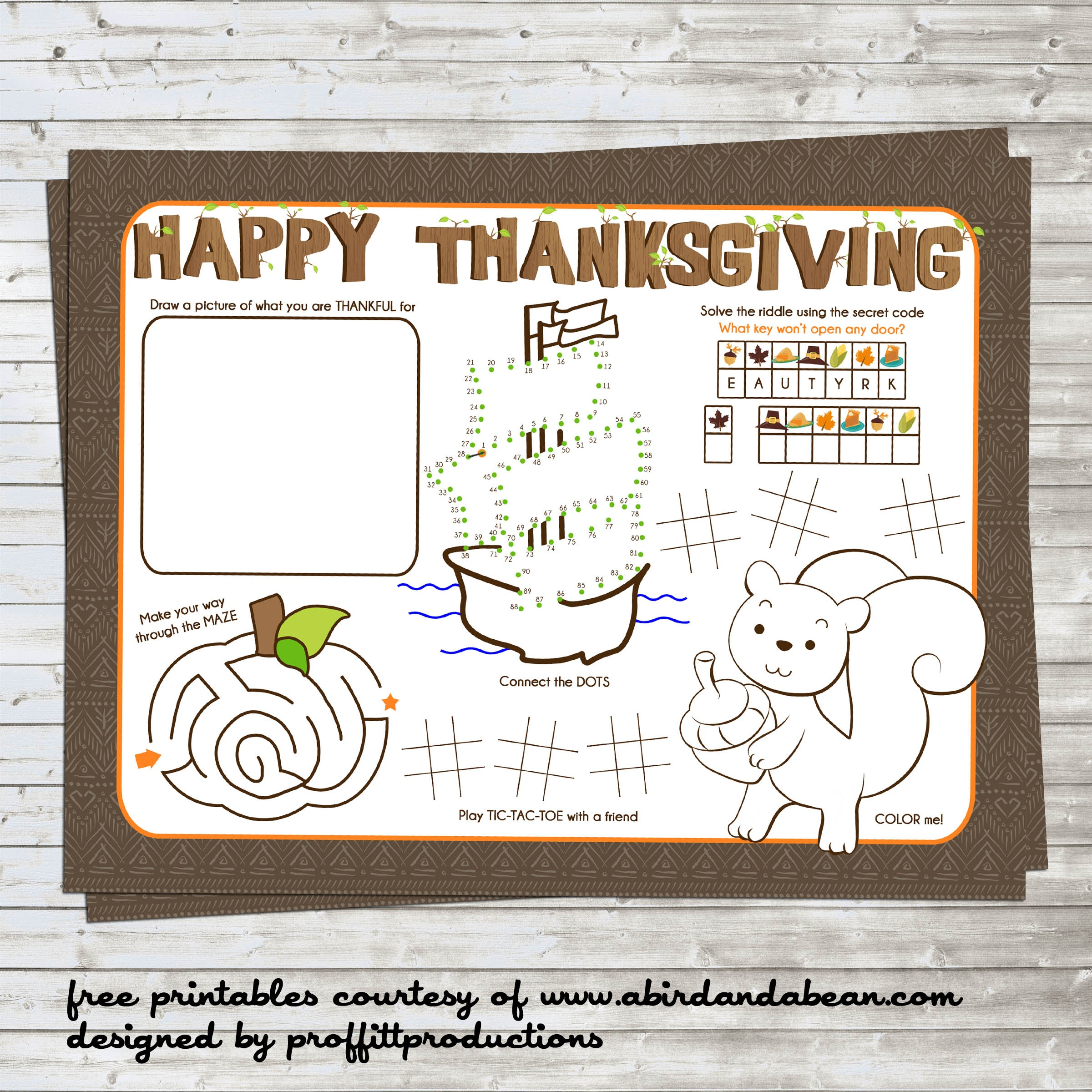 Free Printable :: Thanksgiving Placemat For The Kids - Free Printable Thanksgiving Coloring Placemats
