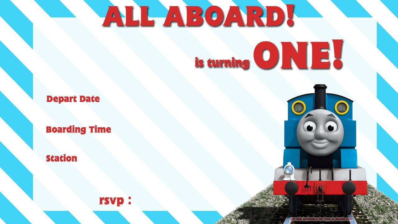 Free Printable Thomas The Train 1St Birthday | Alex Turns 1 - Thomas Invitations Printable Free