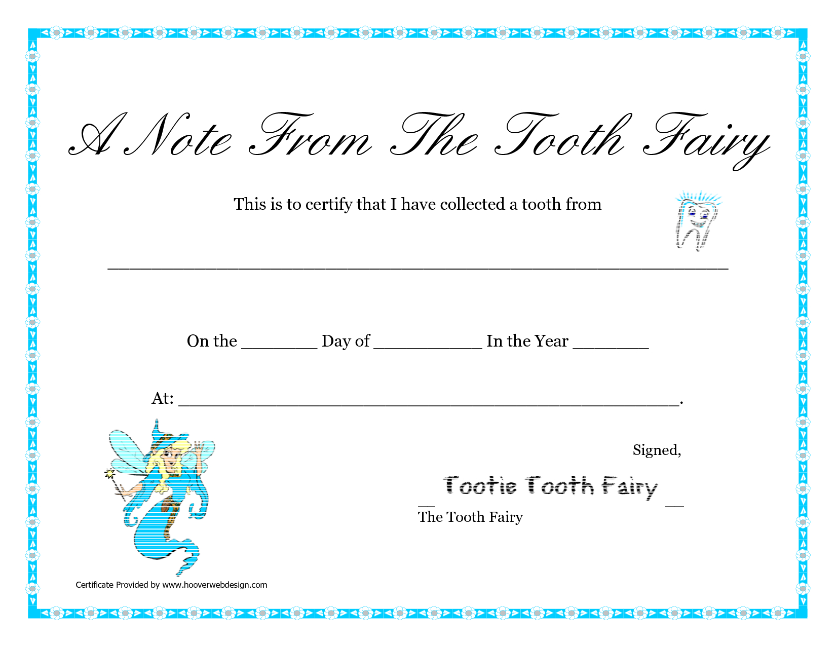 Free Printable Tooth Fairy Letter   Tooth Fairy Certificate - Tooth Fairy Stationery Free Printable