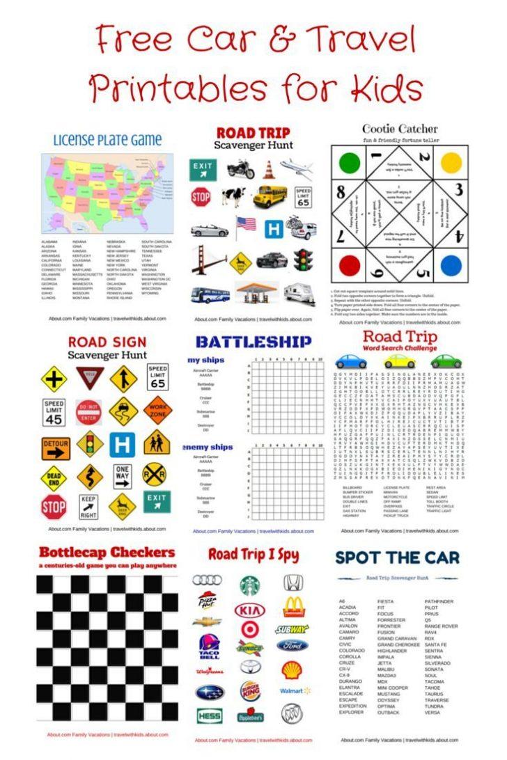 Free Printable Car Ride Games