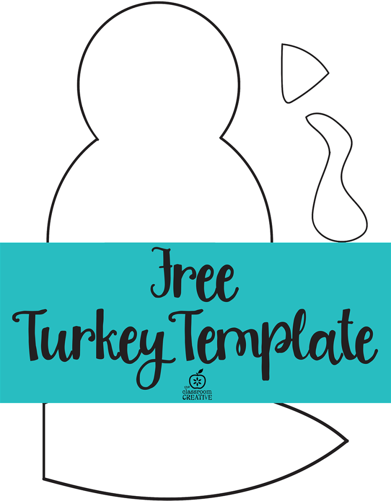 Free Printable Turkey Template. Easy Peasy | Kids Thanksgiving - Free Turkey Cut Out Printable