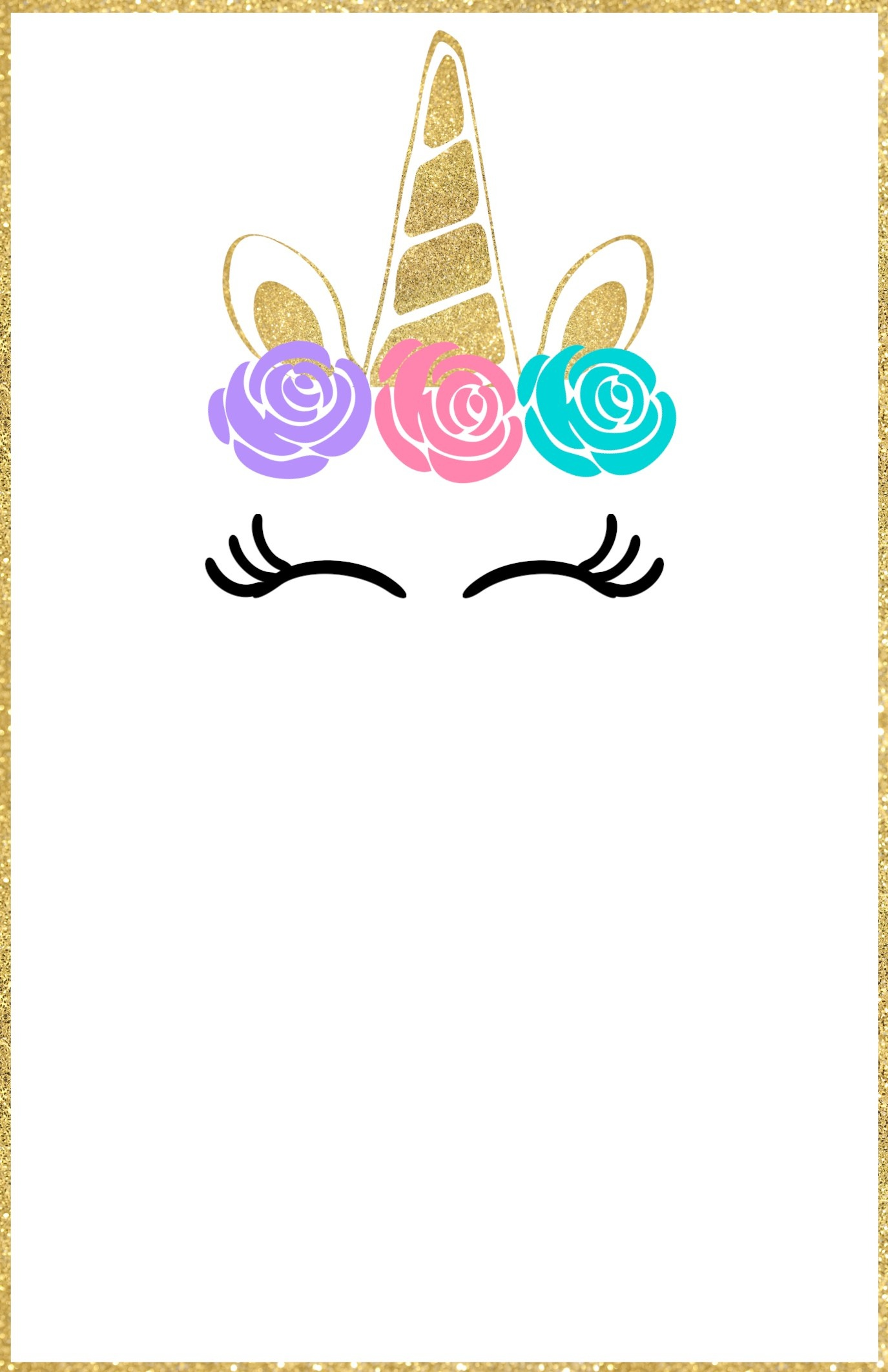 Free Printable Unicorn Invitations Template - Paper Trail Design - Free Printable Invitations Templates