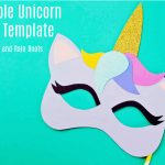 Free Printable Unicorn Mask   Coloring Page And Template   Free Printable Paper Masks