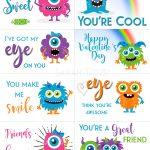Free Printable Valentine Cards   Sarah Titus   Free Printable Valentine Cards For Kids