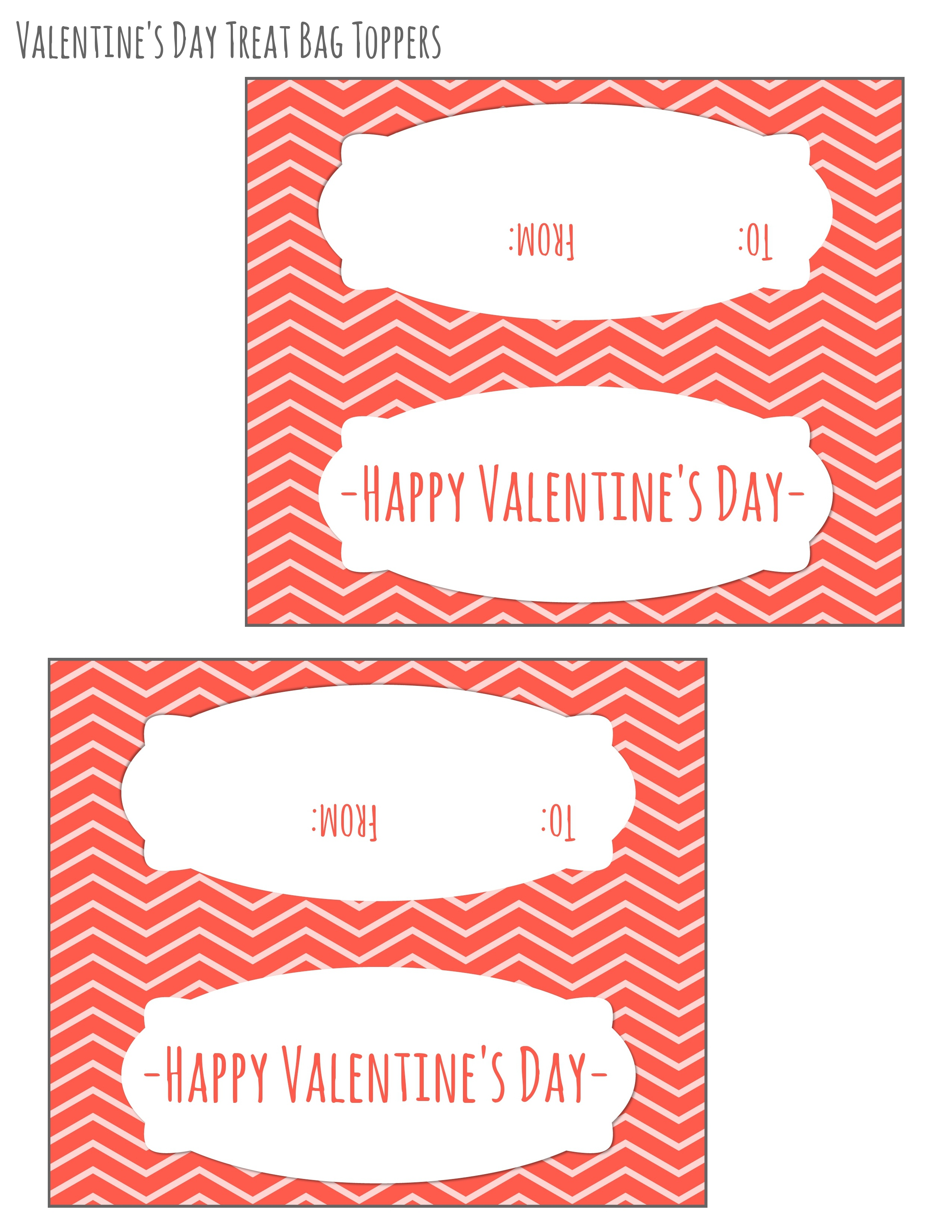 Free Printable Valentines Day Bag Toppers - Domestic Mommyhood - Free Printable Bag Toppers