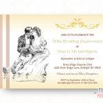 Free Printable Wedding Anniversary Cards ~ Wedding Invitation Collection - Free Printable 50Th Anniversary Cards