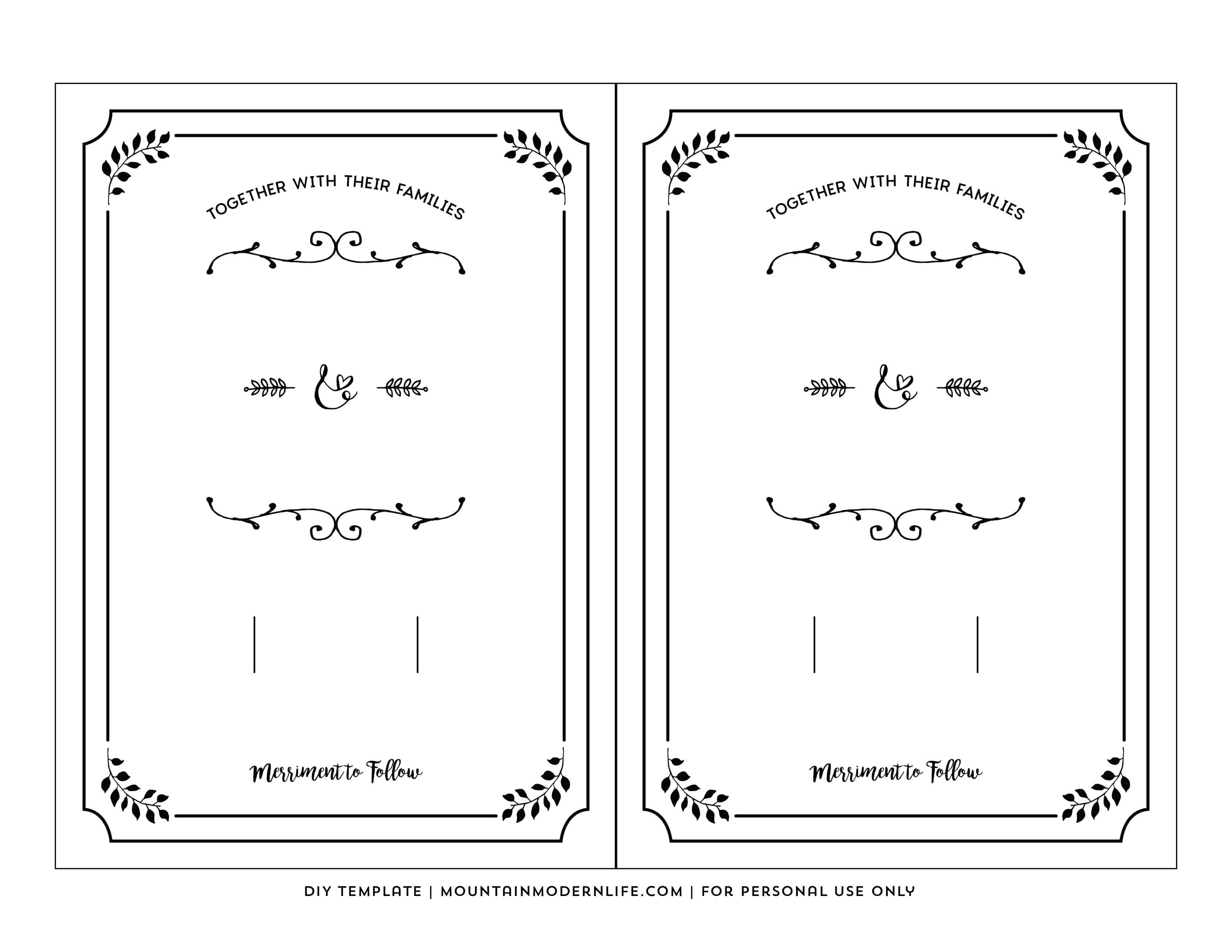Free Printable Wedding Invitation Template - Free Printable Invitations Templates