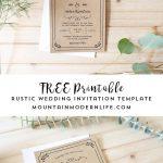 Free Printable Wedding Invitation Template   Free Printable Wedding Invitation Templates