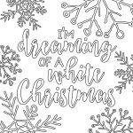 Free Printable White Christmas Adult Coloring Pages | Coloring Pages – Free Printable Christmas Coloring Pages