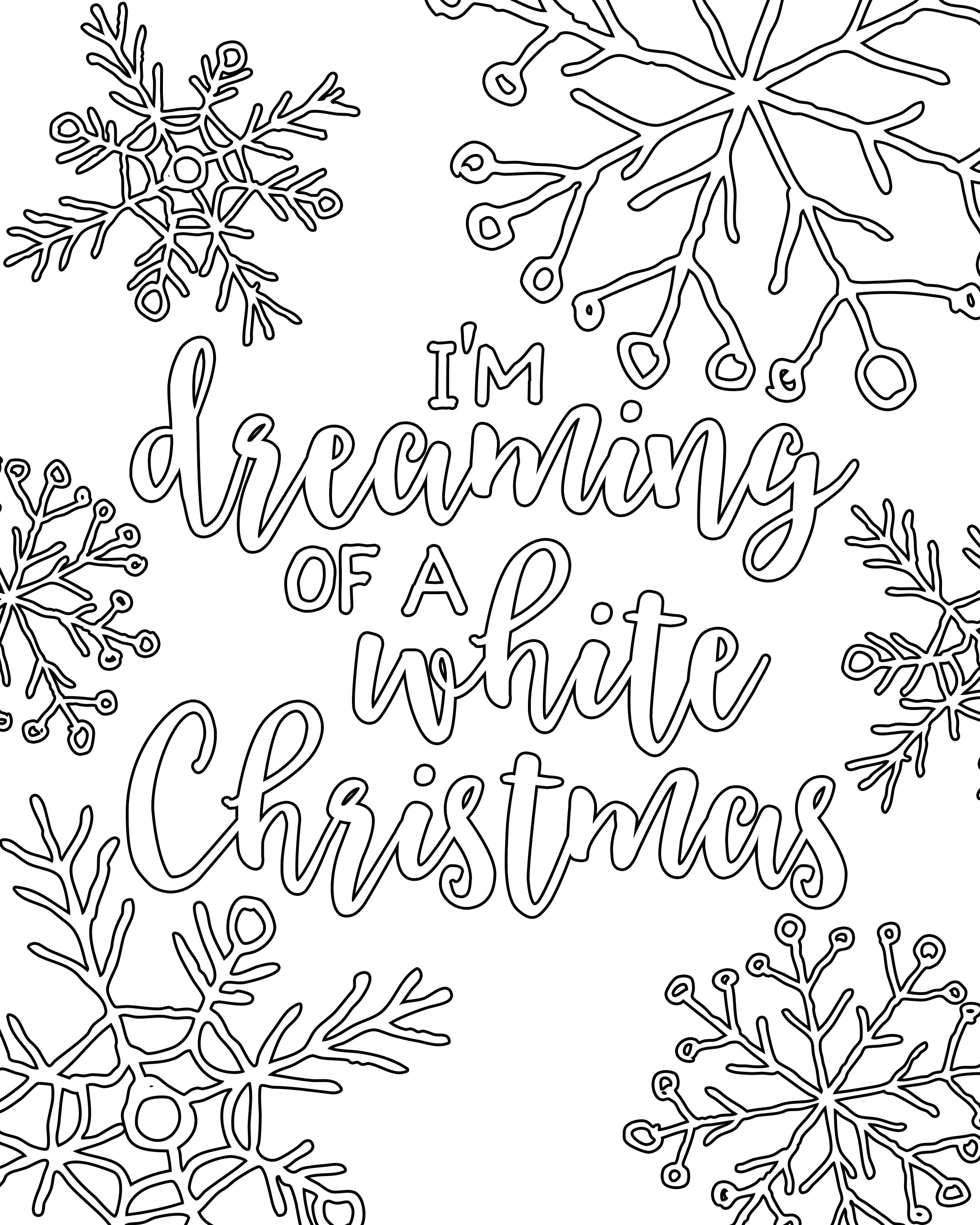 Free Printable White Christmas Adult Coloring Pages | Coloring Pages - Free Printable Christmas Coloring Pages