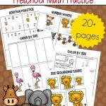 Free Printable Zoo Math Worksheets For Preschoolers – Free Printable Zoo Worksheets