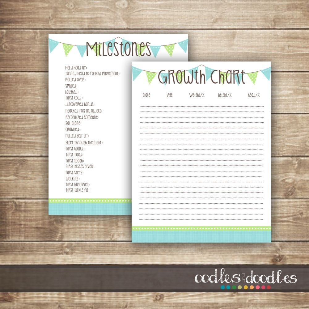 Free Printables: Baby Milestones & Growth Chart Printable Templates - Free Printable Baby Memory Book