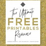 Free Printables • Free Wall Art Roundups • Little Gold Pixel   Free Printable Artwork For Home