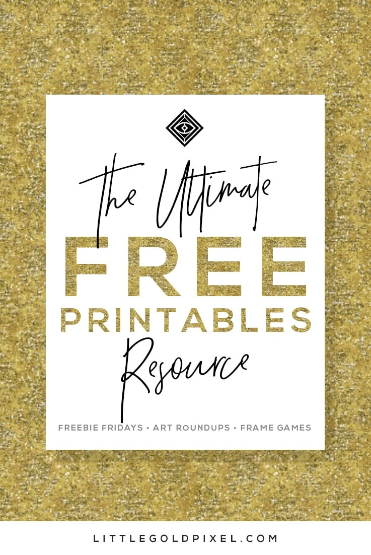 Free Printables • Free Wall Art Roundups • Little Gold Pixel - Free Printable Artwork For Home