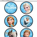 Free Printables For The Disney Movie Frozen   Cake Decorating   Frozen Cupcake Toppers Free Printable