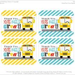 Free Printables: School Bus Driver Appreciation   Free Printable School Bus Template