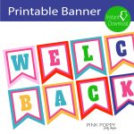 Free Printables} Welcome Back Banner | Children's Ministry | Welcome   Free Printable Welcome Banner Template