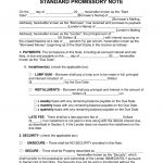 Free Promissory Note Templates   Pdf   Word   Eforms – Free Fillable   Free Printable Promissory Note Contract