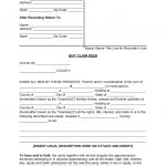Free Quit Claim Deed Forms – Pdf | Word | Eforms – Free Fillable Forms – Free Printable Quit Claim Deed Washington State Form