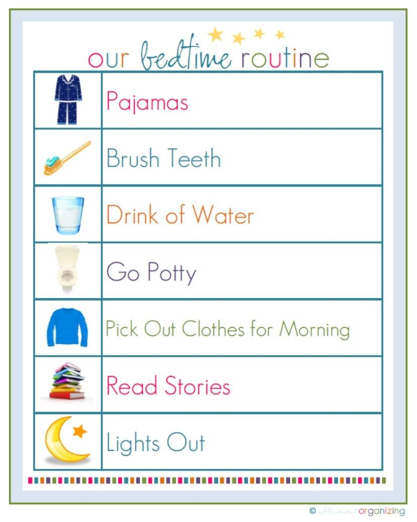 Free Routine Printables And More! | Marlei Stuff | Toddler Bedtime - Free Printable Bedtime Routine Chart