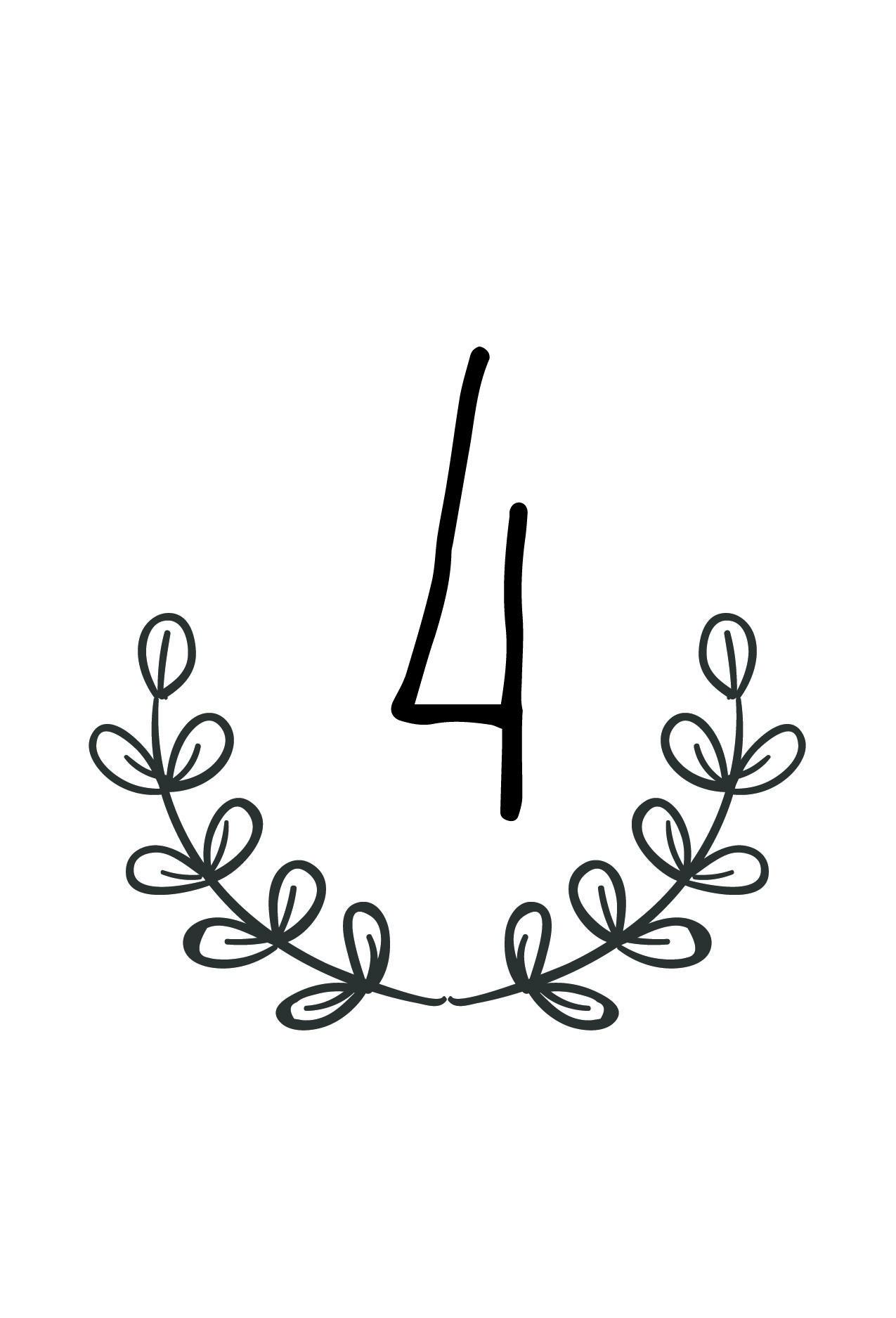 Free Rustic Wedding Table Number Printable | Future Wedding In 2019 - Free Printable Table Numbers