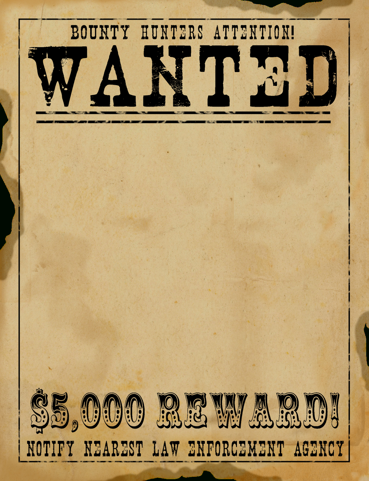 Free Scrapbook Graphics-So Many Great Ones For Digital Scrapbooking - Free Printable Wanted Poster Invitations